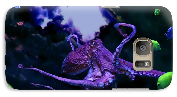 Galaxy Case featuring the mixed media Octopus by Steed Edwards