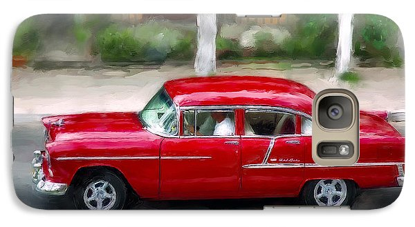 Galaxy Case featuring the photograph Red Bel Air by Juan Carlos Ferro Duque
