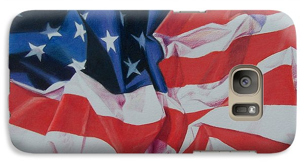 Galaxy Case featuring the painting Old Glory 1 by Constance Drescher
