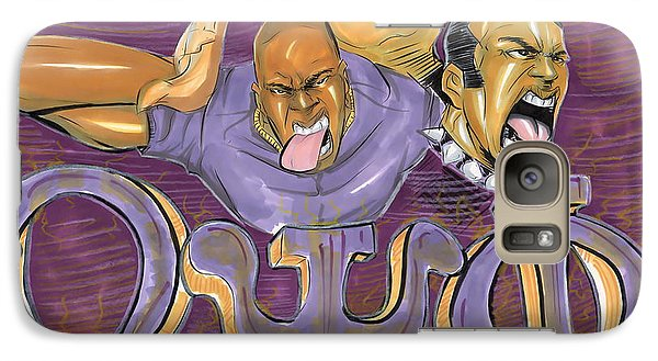 Galaxy Case featuring the drawing Omega Psi Phi II by Tu-Kwon Thomas