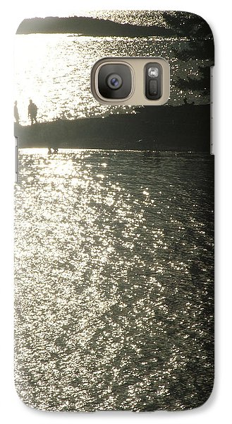 Galaxy Case featuring the photograph 2 At The Beach by Mark Alan Perry