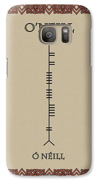 Galaxy Case featuring the digital art O'neill Written In Ogham by Ireland Calling