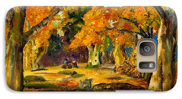 Galaxy Case featuring the painting Our Place In The Woods by Mary Ellen Anderson