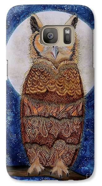 Galaxy Case featuring the painting Paisley Moon by Deborha Kerr