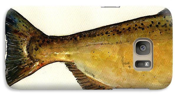 Salmon Galaxy S7 Case - 2 Part Chinook King Salmon by Juan  Bosco