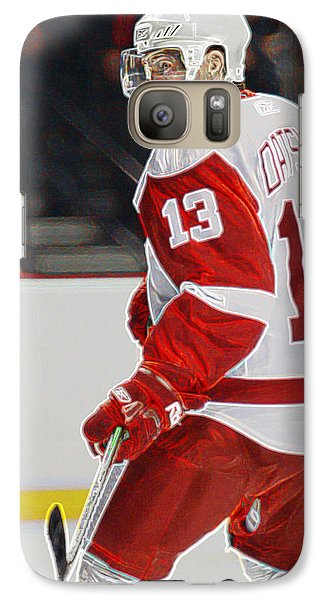Galaxy Case featuring the photograph Pavel Datsyuk by Don Olea