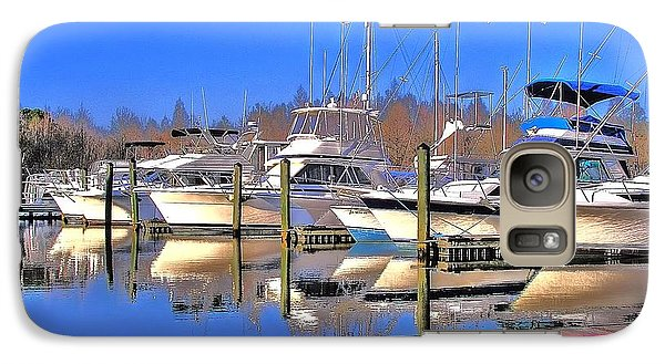 Galaxy Case featuring the photograph Peaceful Marina by Ed Roberts