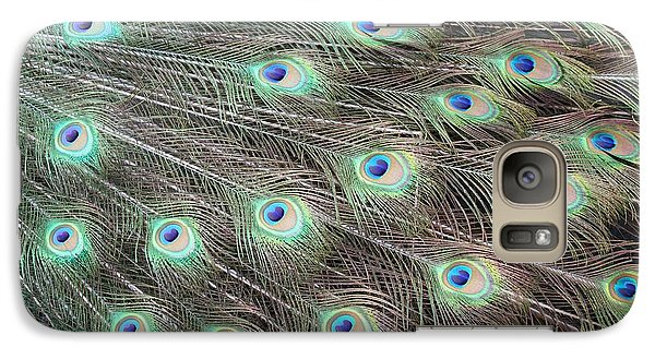Galaxy Case featuring the photograph Peacock Feather Fiesta  by Diane Alexander