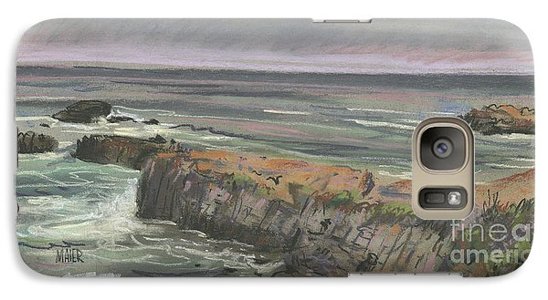 Galaxy Case featuring the painting Pescadero Beach by Donald Maier