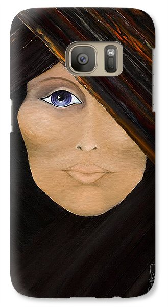 Galaxy Case featuring the painting Piercing The Veil  by Yolanda Raker