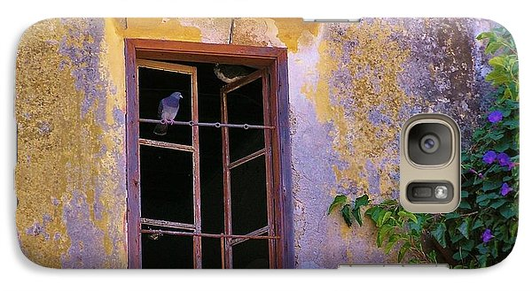 Galaxy Case featuring the photograph Pigeons And Morning Glories by Michele Penner