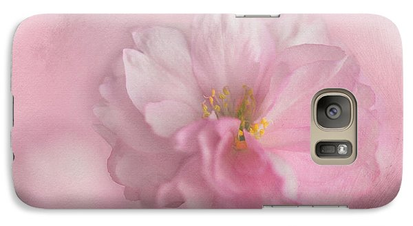 Galaxy Case featuring the photograph Pink Blossom by Annie Snel