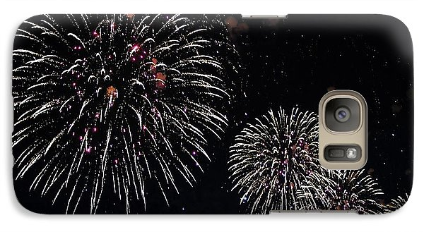 Galaxy Case featuring the photograph Pink Fireworks by Lilliana Mendez