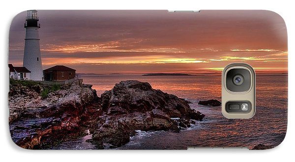 Galaxy Case featuring the photograph Portland Head Lighthouse Sunrise by Alana Ranney