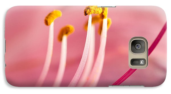 Galaxy Case featuring the photograph Pretty In Pink by Annette Hugen