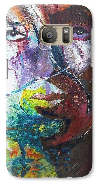 Galaxy Case featuring the painting Primal by Diana Bursztein