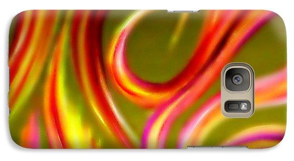 Galaxy Case featuring the painting Pyromania by Cyryn Fyrcyd