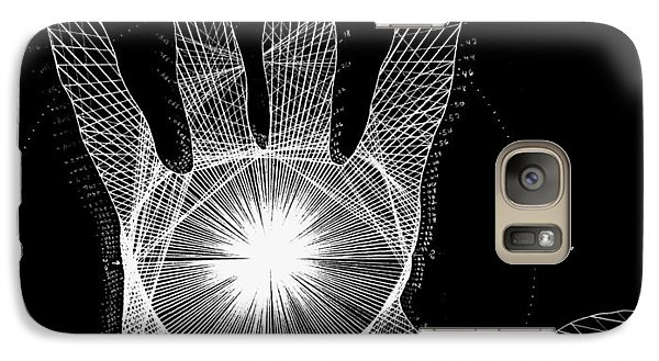 Quantum Hand Through My Eyes Galaxy Case by Jason Padgett