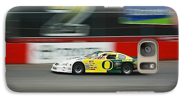 Galaxy Case featuring the photograph Racing Oregon Ducks Nascar by Tyra  OBryant