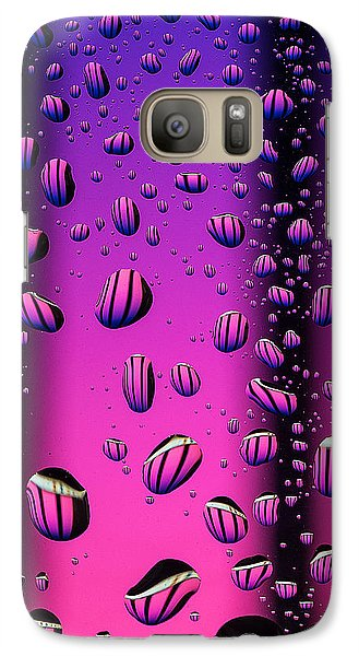 Galaxy Case featuring the photograph Rain Drops by Vladimir Kholostykh