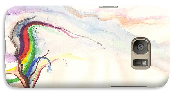 Galaxy S7 Case featuring the painting Rainbow Tree by Rod Ismay