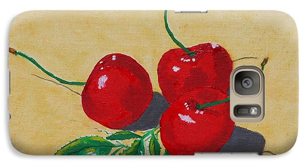 Galaxy Case featuring the painting Red Cherries by Johanna Bruwer