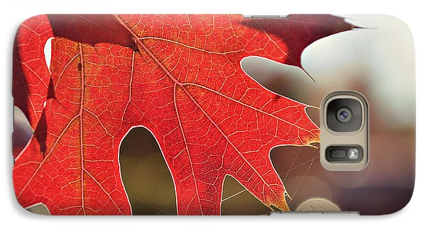 Galaxy Case featuring the photograph red by Rima Biswas