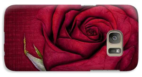 Galaxy Case featuring the photograph Red Rose by Shirley Mangini