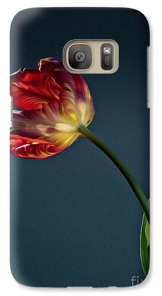 Tulip Galaxy S7 Case - Red Tulip by Nailia Schwarz