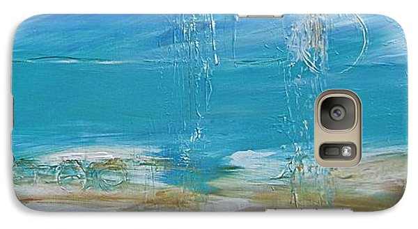 Galaxy Case featuring the painting Reflections by Diana Bursztein