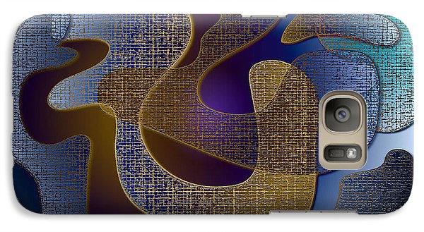 Galaxy Case featuring the digital art Relaxing Shapes by Iris Gelbart