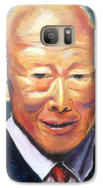 Galaxy Case featuring the painting R E S P E C T by Belinda Low