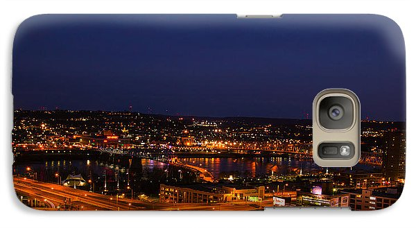 Galaxy Case featuring the photograph Ribbons Of Light by Cathy Donohoue
