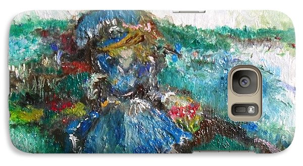 Galaxy Case featuring the painting Roses For My Mother by Laurie L