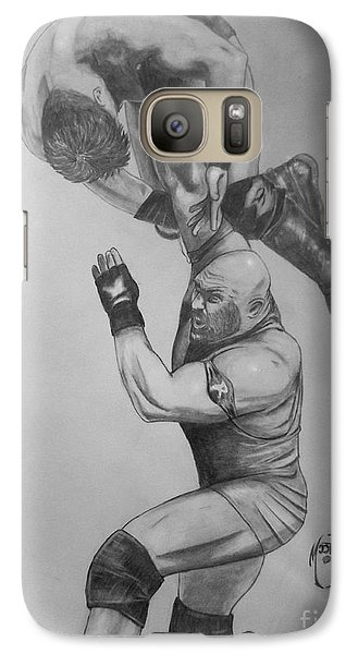 Galaxy Case featuring the drawing Ryback by Justin Moore