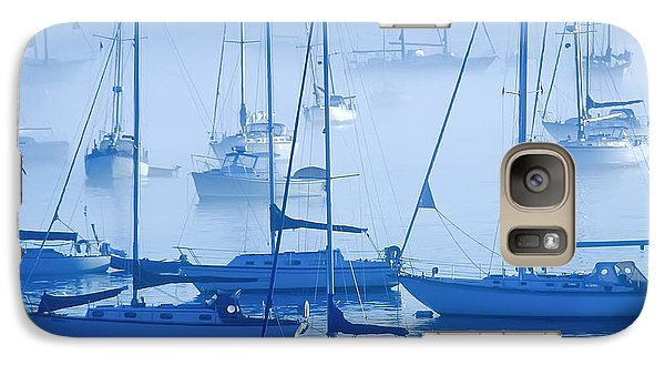 Galaxy Case featuring the photograph Sailboats In The Fog - Maine by David Perry Lawrence