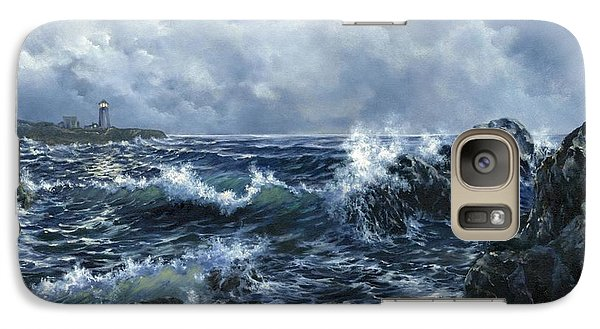 Galaxy Case featuring the painting Sailor's Light by Lynne Wright