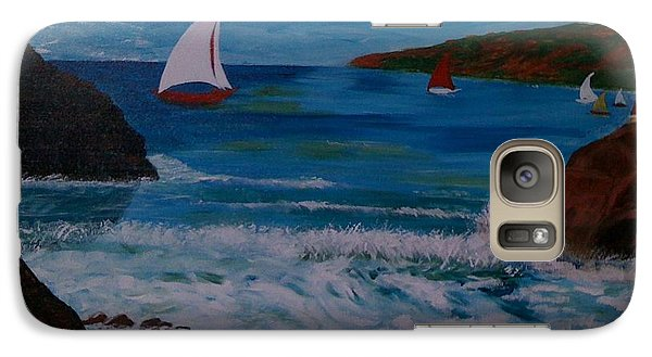 Galaxy Case featuring the painting Sails by Judi Goodwin