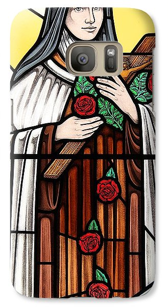 Galaxy Case featuring the glass art Saint Therese Of Lisieux by Gilroy Stained Glass