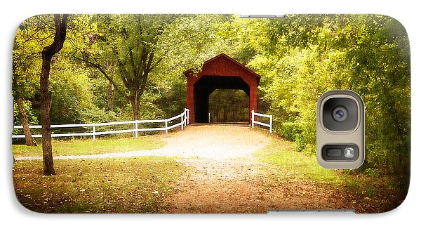 Galaxy Case featuring the photograph Sandy Creek Covered Bridge by Julie Clements