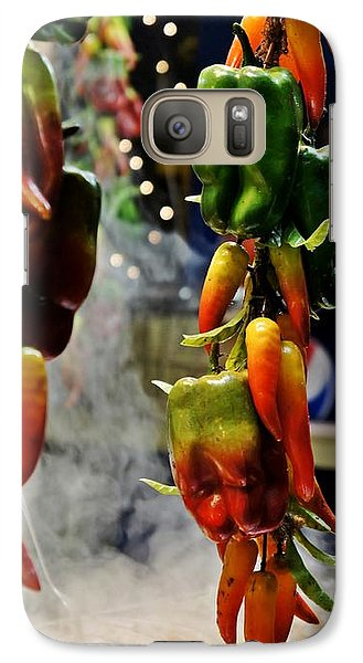 Galaxy Case featuring the photograph Sausage And Peppers by Lilliana Mendez