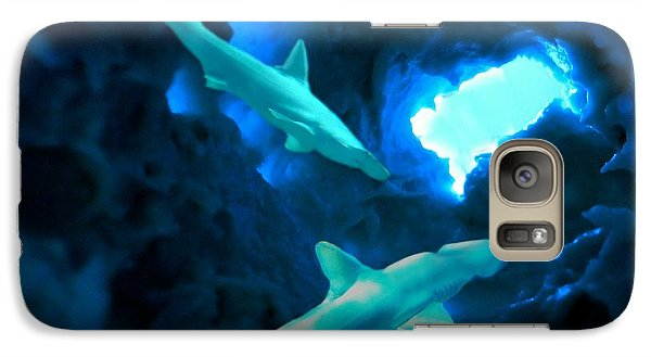 Galaxy Case featuring the mixed media Shark Cave by Steed Edwards