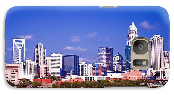 Galaxy Case featuring the photograph Skyline Of Uptown Charlotte North Carolina At Night by Alex Grichenko