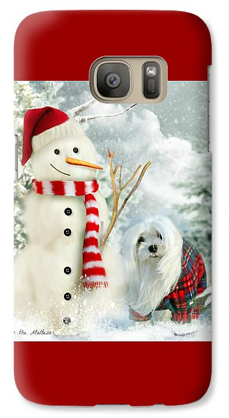 Galaxy Case featuring the mixed media Snowdrop And The Snowman by Morag Bates