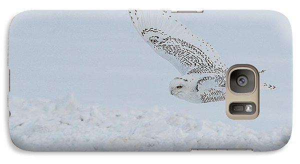 Galaxy Case featuring the photograph Snowy Owl #2/3 by Patti Deters