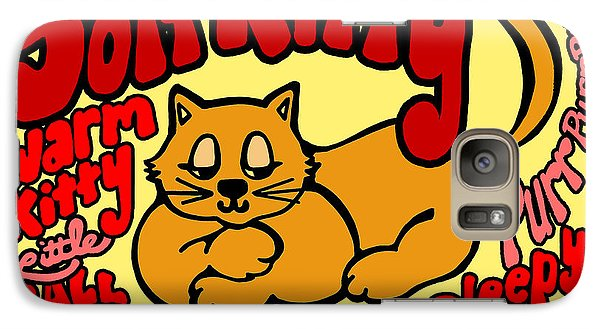 Galaxy Case featuring the drawing Soft Kitty by Ginny Gaura