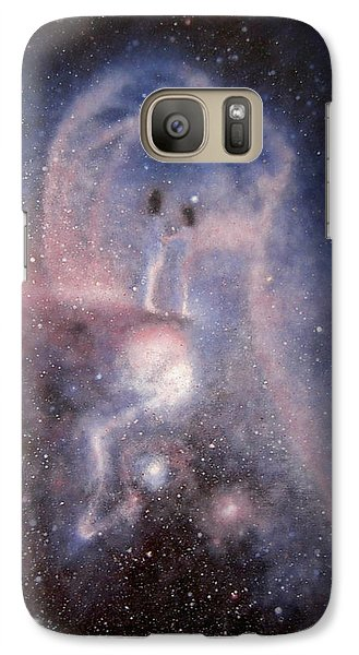 Galaxy Case featuring the painting Star Couple by Min Zou