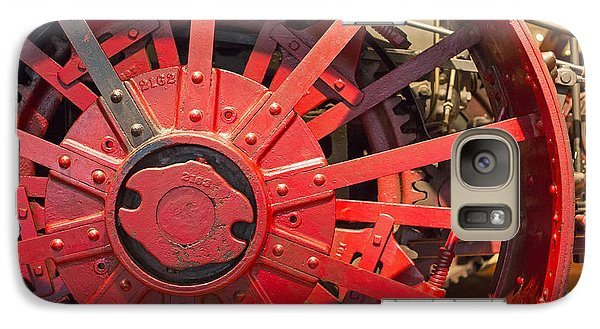Galaxy Case featuring the photograph Steam Traction Engine by Jim West