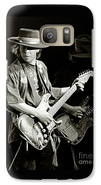 Rock And Roll Galaxy S7 Case - Stevie Ray Vaughan 1984 by Chuck Spang