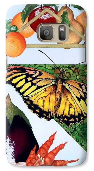 Galaxy Case featuring the painting Still Life With Moth #1 by Thomas Gronowski